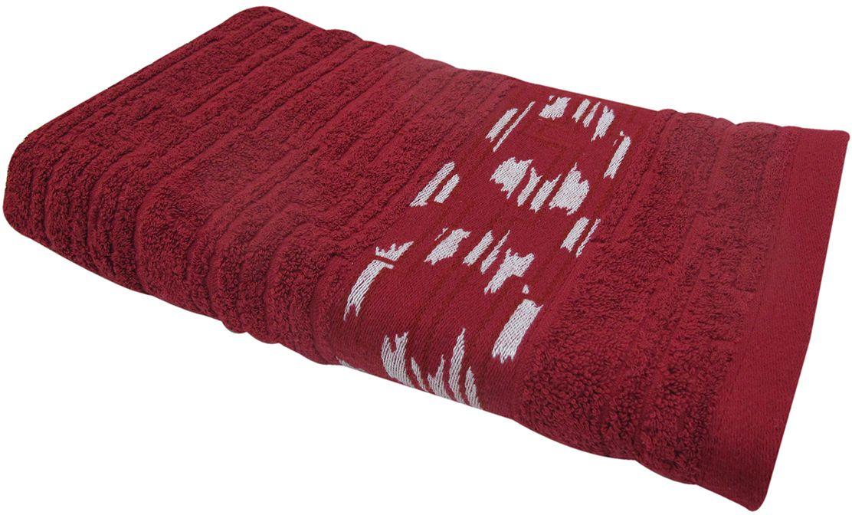 Полотенце махровое Bravo Нюанс, цвет: бордовый, 50 х 90 см84573Полотенце Нюанс выполнено из натуральной махровой ткани (100% хлопок). Изделие отлично впитывает влагу, быстро сохнет, сохраняет яркость цвета и не теряет форму даже после многократных стирок.Полотенце очень практично и неприхотливо в уходе. Оно создаст прекрасное настроение и украсит интерьер в ванной комнате.