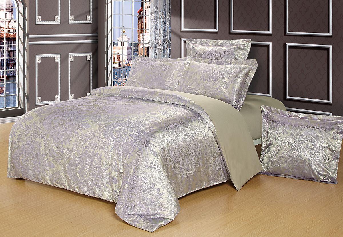 Комплект белья Versailles Альбина, евро, наволочки 50x70, цвет: серый85485Комплект постельного белья Versailles изготовлен из сатина, сотканного из хлопка с добавлением вискозных волокон. Белье дарит приятные тактильные ощущения на протяжении всего сна, а уникальные жаккардовые узоры придают танки мягкий блеск и обеспечивают материалу особую прочность. Постельное белье Versailles - отличный подарок на любое торжество и идеальный выбор для взыскательных покупателей. Комплект состоит из пододеяльника, простыни и четырех наволочек. Состав: хлопок 70%, вискоза 30%