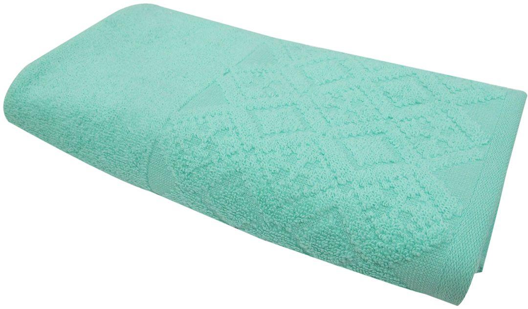 Полотенце махровое Bravo Вдохновение, цвет: аква, 45 х 90 см bravo полотенце детское пони 33 x 70 см 1089