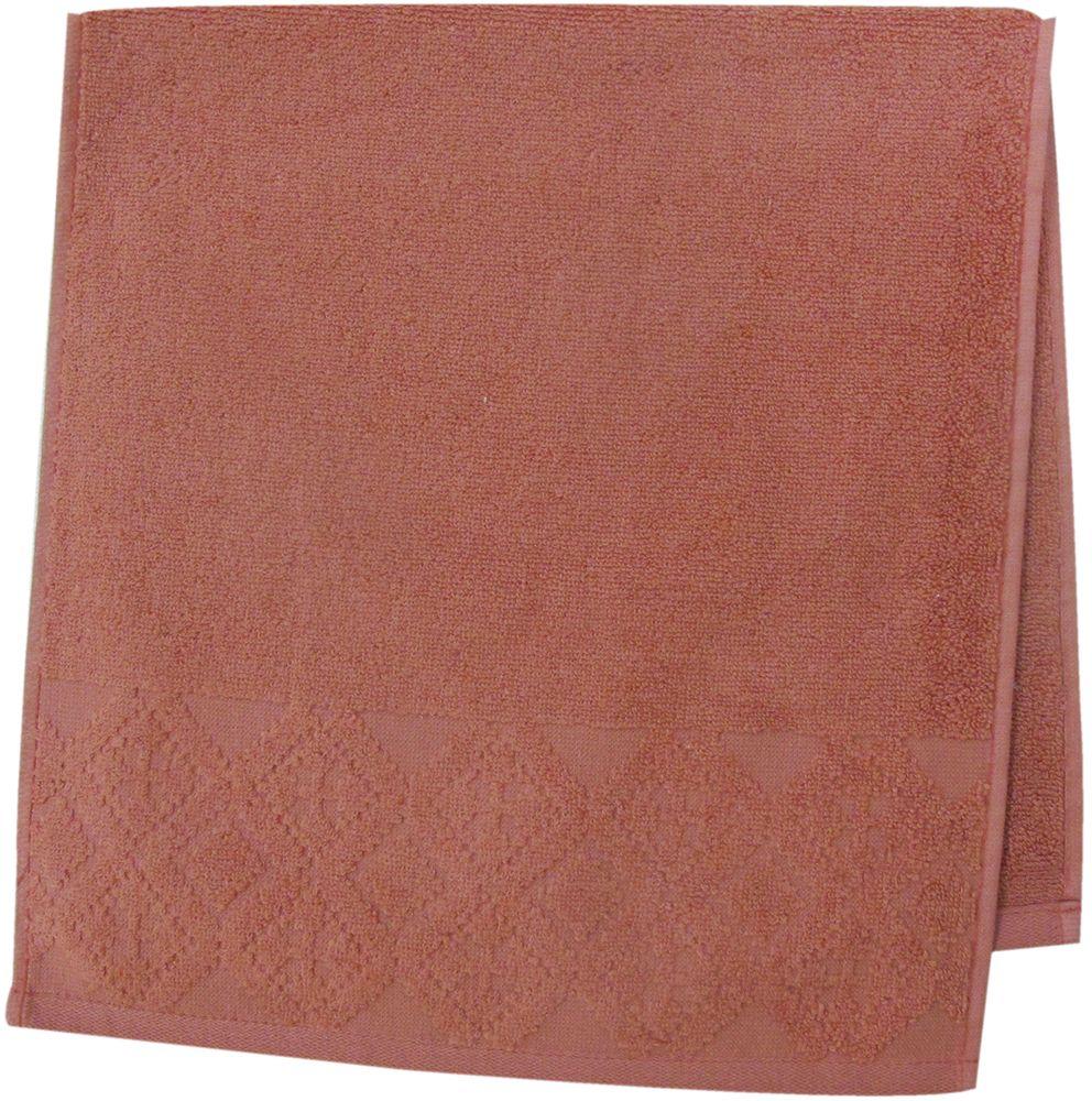 Полотенце махровое Bravo Вдохновение, цвет: терракотовый, 33 х 70 см85514Полотенце Вдохновение выполнено из натуральной махровой ткани (100% хлопок). Изделие отлично впитывает влагу, быстро сохнет, сохраняет яркость цвета и не теряет форму даже после многократных стирок. Полотенце очень практично и неприхотливо в уходе. Оно создаст прекрасное настроение и украсит интерьер в ванной комнате.