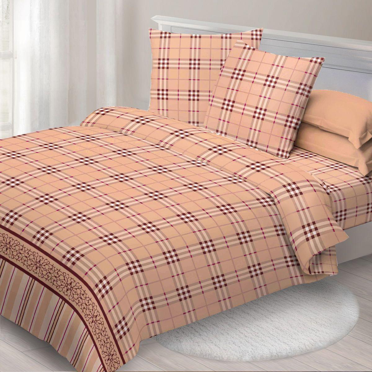 Комплект белья Спал Спалыч Хайленд, 1,5-спальное, наволочки 70x70, цвет: коричневый недорогое