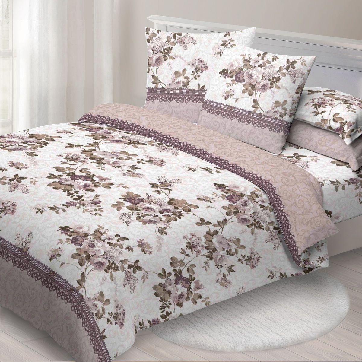 Комплект белья Спал Спалыч Амелия, cемейный, наволочки 70x70, цвет: бежевый комплект постельного белья 1 5 спал спалыч рис 4084 1 карамель