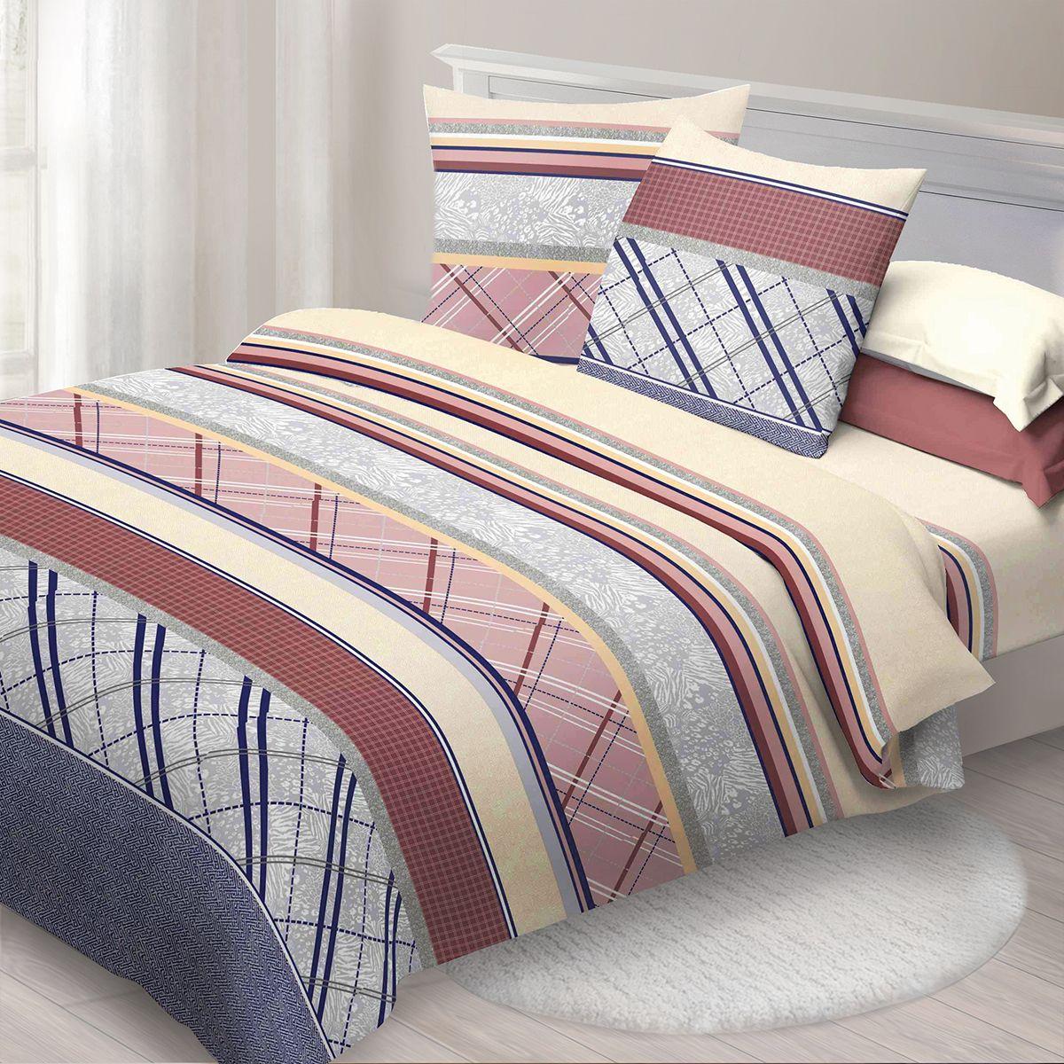 Комплект белья Спал Спалыч Форте, cемейный, наволочки 70x70, цвет: разноцветный