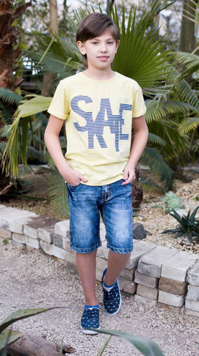 Шорты для мальчика Luminoso, цвет: синий. 717031. Размер 140717031Джинсовые шорты для мальчика застегиваются на молнию и пуговицу. В боковой части пояса находятся вшитые эластичные ленты, регулирующие посадку по талии.