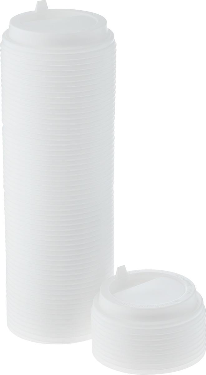 Крышка одноразовая Протэк, с носиком, цвет: белый, диаметр 9 см, 100 шт. ПОС29008ПОС29008Крышка одноразовая Протэк предназначена для пластиковых кружек и стаканчиков. Крышка плотно одевается на стакан и не допускает проливания жидкости. Изделие дополнено удобным носиком, через который можно пить, не снимая крышку со стакана.