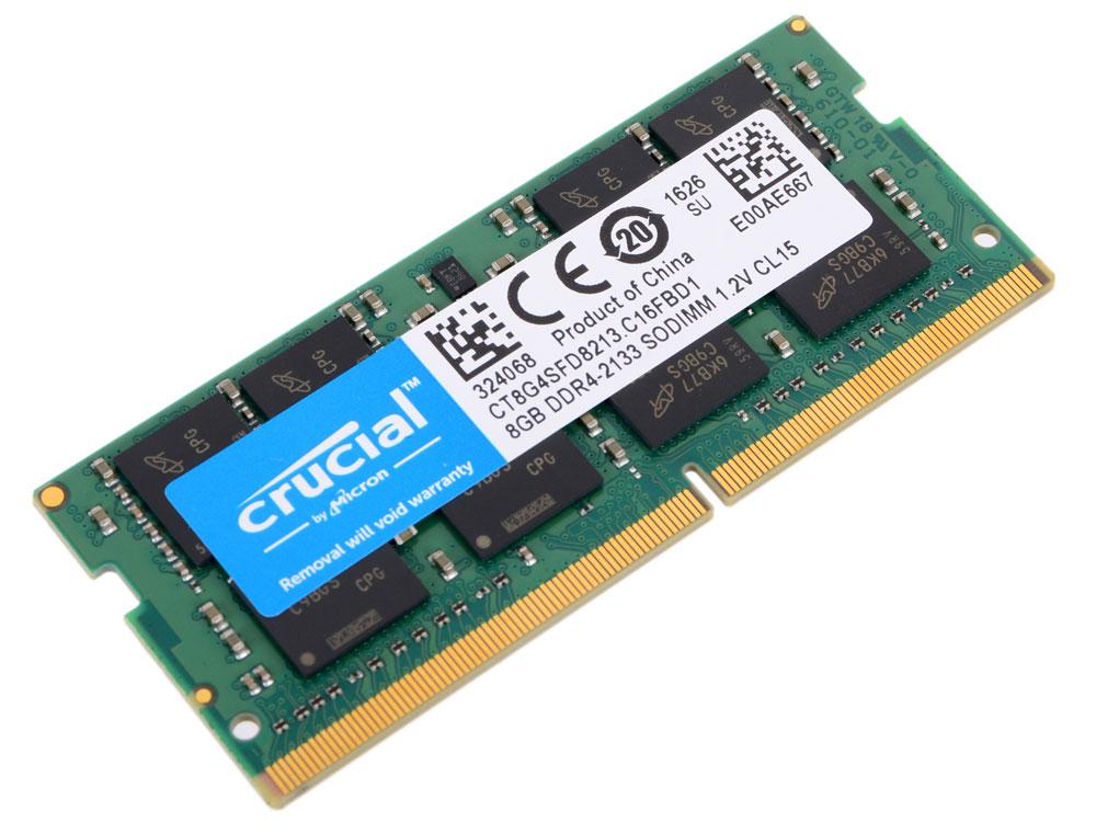Crucial SODIMM DDR4 8GB 2133МГц модуль оперативной памяти модуль оперативной памяти пк crucial ct25664bd160bj ct25664bd160bj