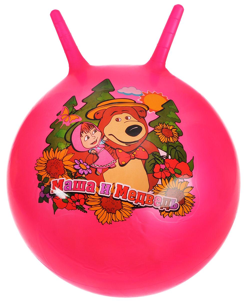 Играем вместе Мяч Маша и Медведь с рожками цвет розовый 55 см