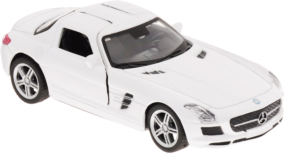 Pitstop Машинка инерционная Mercedes-Benz SLS AMG цвет белый масштаб 1/32 welly 84002 велли радиоуправляемая модель машины 1 24 mercedes benz sls amg