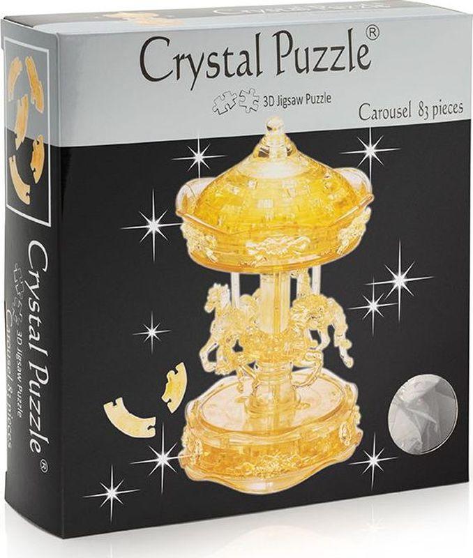 Crystal Puzzle 3D головоломка Карусель цвет золотистый