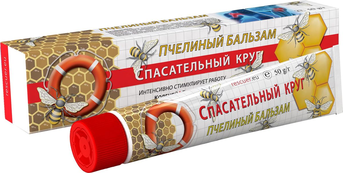 Спасательный круг Крем-бальзам Пчелиный, 50 г76Пчелиный Бальзам оказывает выраженный стимулирующий эффект в области мышц и суставов. Использование бальзама в качестве массажного средства усиливает физиологические эффекты медицинского массажа. Под воздействием активных веществ бальзама происходит усиление кровообращения в области нанесения, что стимулирует повышенный обмен веществ и выведение продуктов метаболизма. Бальзам способствует уменьшению болевых ощущений при мышечных и суставных болях.