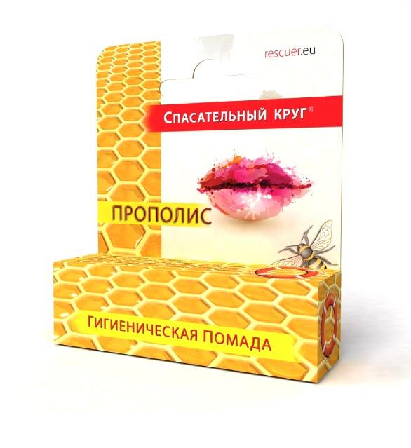 Спасательный круг Гигиеническая помада Прополис , 4,6 млSKP05Обладает интенсивными защитными и антисептическими свойствами. Эффективно восстанавливает и успокаивает кожу. Смягчает, увлажняет и питает кожу губ. Помада может быть рекомендована как профилактическое средство при герпесе. В сезон холодов эффективно защищает губы от неблагоприятного воздействия окружающей среды.