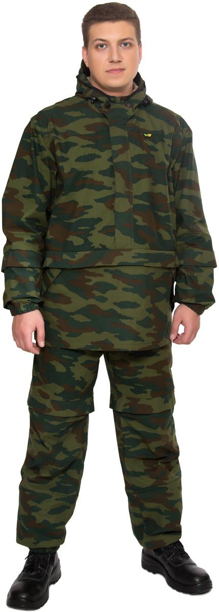 Костюм противоэнцефалитный мужской Биостоп Лайт, цвет: зеленый камуфляж. 03/1/12. Размер L-182/188 (52/54-182/188)03/1/12Костюм свободного кроя Биостоп Лайт обеспечивает защиту от укусов клещей, а система сдвоенных размеров делает его идеальным выбором для людей с нестандартной фигурой. Дополняющая костюм антимоскитная сетка защитит лицо от мошки и гнуса. Легкий, дышащий Биостоп Лайт очень удобен в носке, эргономичен и просто идеален для походов в лес в летнее время, станет надежным напарником на рыбалке и охоте в летний период. На куртке расположены два удобных кармана. Брюки дополнены двумя прорезными карманами на молниях. Обработанные противоклещевым средством участки костюма не контактируют с кожей. Защитные свойства костюма сохраняются даже после 50 стирок.