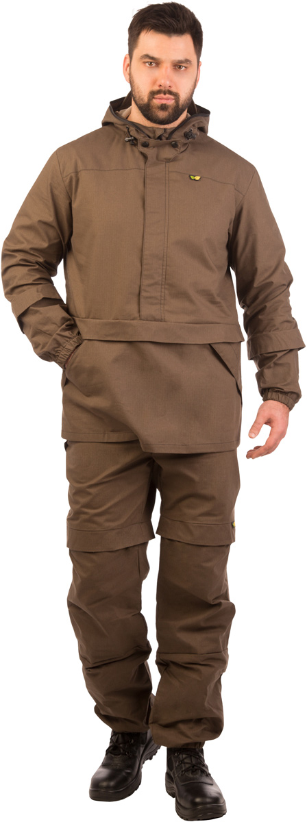 Костюм противоэнцефалитный мужской Биостоп Лайт, цвет: хаки. 03/1/11. Размер M-182/188 (48/50-182/188)03/1/11Костюм свободного кроя Биостоп Лайт обеспечивает защиту от укусов клещей, а система сдвоенных размеров делает его идеальным выбором для людей с нестандартной фигурой. Дополняющая костюм антимоскитная сетка защитит лицо от мошки и гнуса. Легкий, дышащий Биостоп Лайт очень удобен в носке, эргономичен и просто идеален для походов в лес в летнее время, станет надежным напарником на рыбалке и охоте в летний период. На куртке расположены два удобных кармана. Брюки дополнены двумя прорезными карманами на молниях. Обработанные противоклещевым средством участки костюма не контактируют с кожей. Защитные свойства костюма сохраняются даже после 50 стирок.