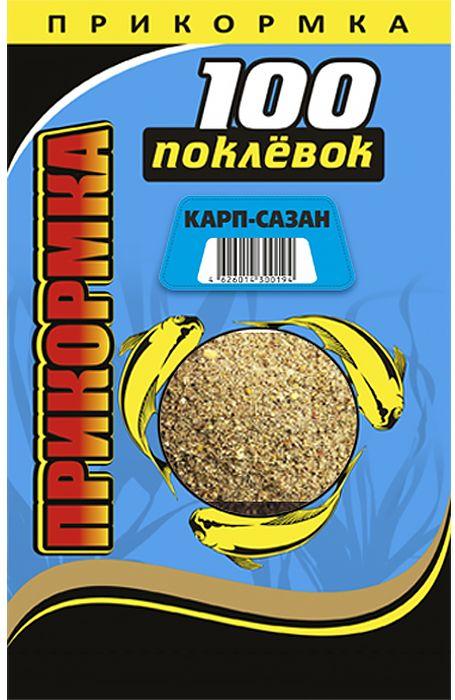 Прикормка 100 Поклевок, карп, сазан, 900 г