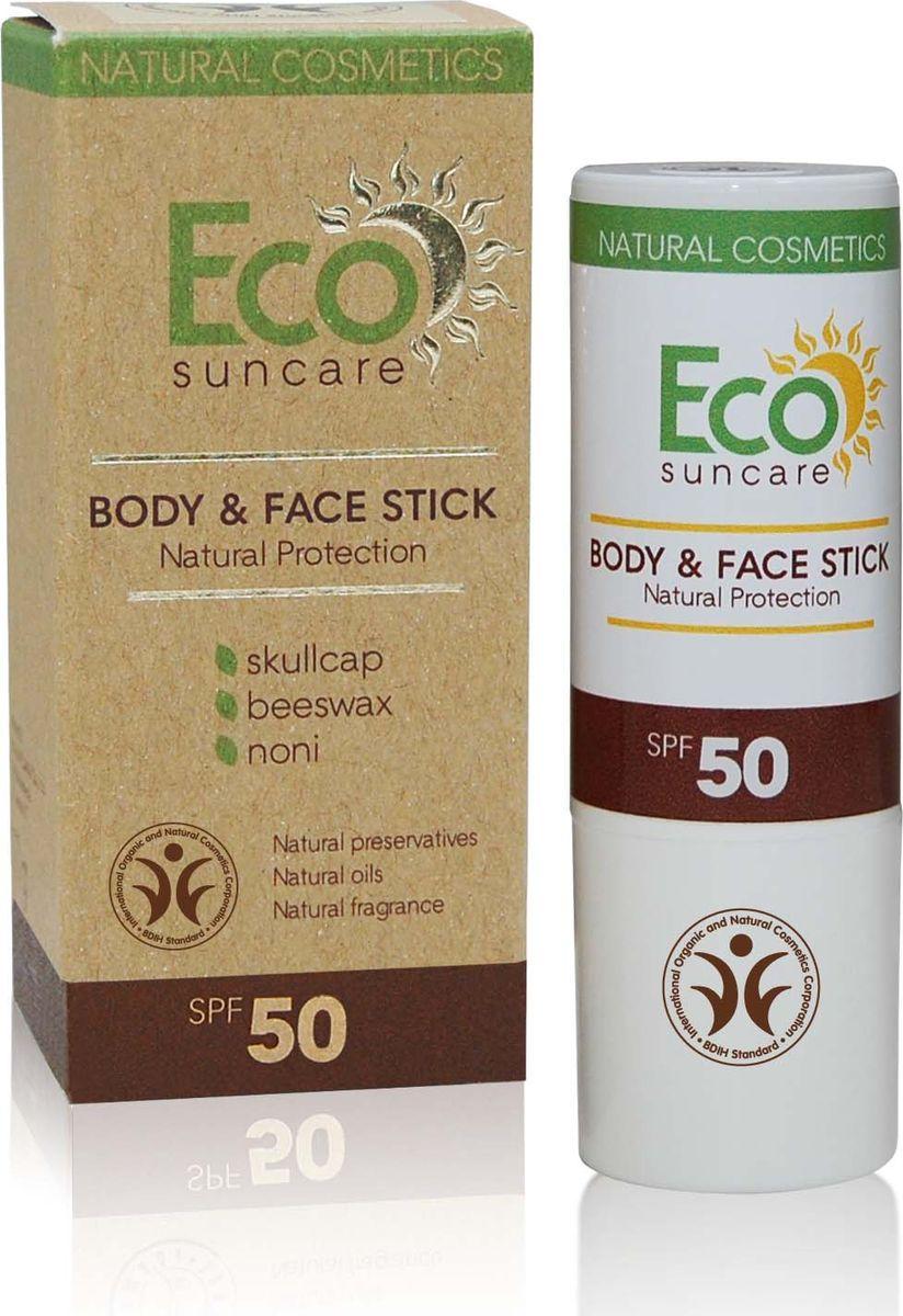 Eco Suncare Натуральный солнцезащитный карандаш для чувствительных участков кожи лица и тела -Natural Sun Protection Body & Face Stick SPF 50 -17г мужская бейсболка 11 cayler snapback