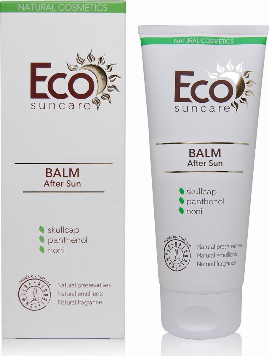 Eco Suncare Бальзам после загара -After Sun Balm 200мл5903240869091Ультралегкий натуральный бальзам с нежной текстурой - идеальное средство после загара на солнце или в солярии. Сок нони входящий в состав бальзама мгновенно снимает напряжение кожи, насыщает ее витаминами, микроэлементами и аминокислотами, реконструирует и восстанавливает кожу. Алантоин и пантенол, входящий в состав бальзама, способствуют быстрому заживлению поврежденных участков кожи, раздражений, вызванных активным солнечным воздействием. Масло ши и кокоса снимает сухость, раздражение и шелушение. Экстракт бурых водорослей интенсивно увлажняет эпидермис и оказывает подтягивающее, смягчающее и регенерирующее действие. Бальзам впитывается мгновенно. Делает кожу мягкой и шелковистой.