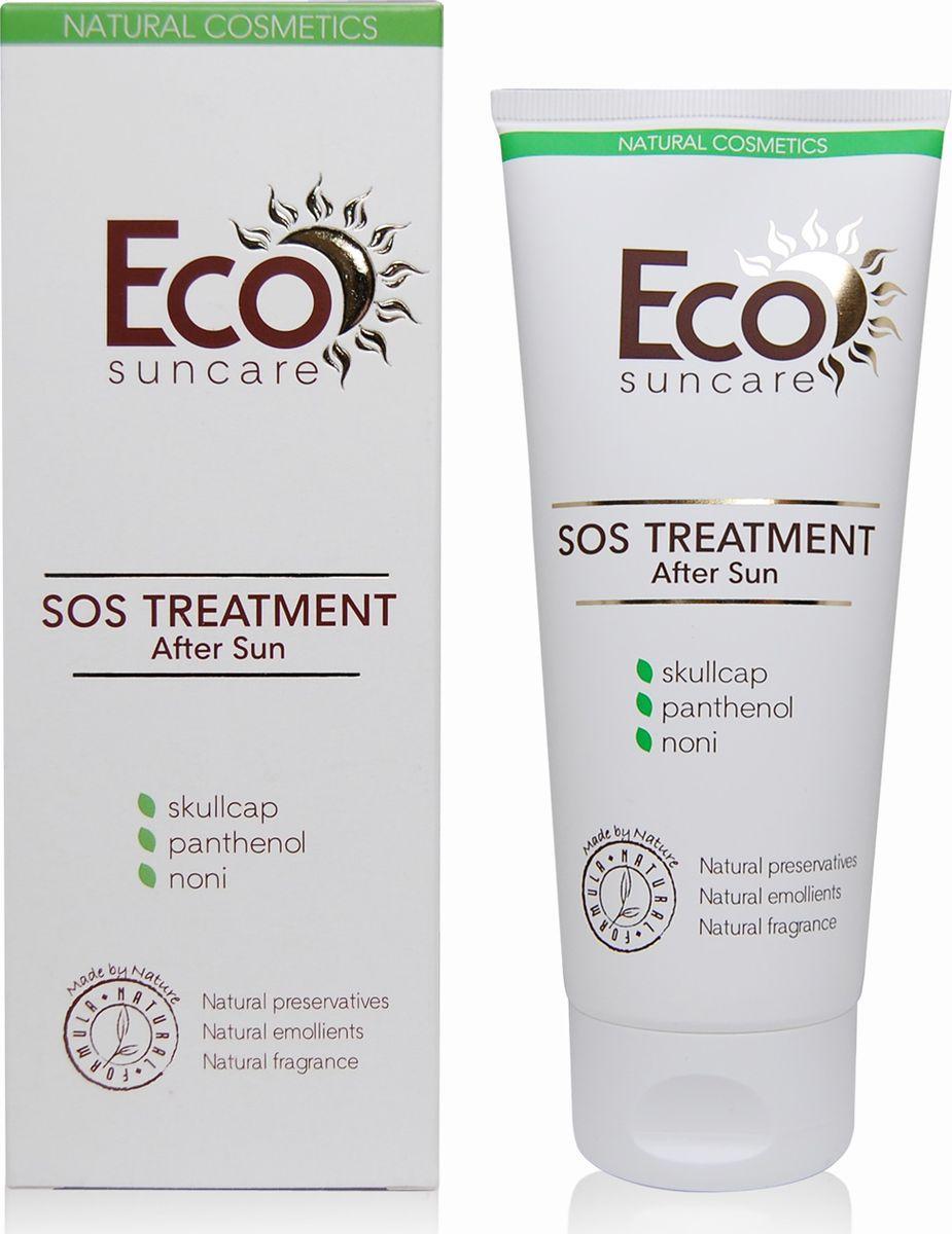 Eco Suncare Охлаждающий гель после загара с успокаивающим действием -SOS After Sun Treatment -200мл5903240869107Нежная, тающая текстура геля с охлаждающим эффектом мгновенно успокаивает кожу и дарит ощущение прохлады после загара на солнце или в солярии. Пантенол, входящий в состав геля, способствует быстрому заживлению поврежденных участков кожи, раздражений, вызванных активным солнечным воздействием. Гель содержит сок нони и экстракт акации синегальской, которые снимают напряжение эпидермиса, насыщают витаминами, микроэлементами и аминокислотами, реконструируют и восстанавливают кожу. Экстракт алоэ вера увлажняет кожу надолго, сохраняя ее гладкой и шелковистой.