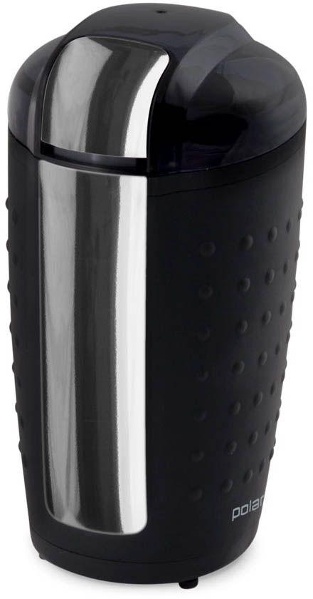 Polaris PCG 1420 кофемолка007940Кофемолка Polaris PCG 1420 - компактная модель с рельефной поверхностью корпуса, помогающей надежно удерживать ее при интенсивной работе. Она очень надежна, поскольку снабжена мощным мотором, устойчивым к перегрузкам, и ножом из высокопрочной нержавеющей стали.Импульсный режим помогает ей справляться с обработкой наиболее твердых зерен и специй, а система блокировки не допускает включения двигателя при открытой крышке.