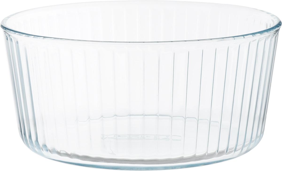 Форма для запекания Pyrex, круглая, диаметр 21 см833B000Форма для запекания Pyrex изготовлена из прозрачного жаропрочного стекла. Непористая поверхность исключает образование бактерий, великолепно моется. Изделие идеально подходит для приготовленияв духовом шкафу. Выдерживает перепад температур от -40°C до +300°C. Форма подходит для использования в микроволновой печи, приготовления блюд в духовке, хранения пищи в холодильнике. Можно мыть в посудомоечной машине.Диаметр формы (по верхнему краю): 21 см. Высота формы: 10 см.