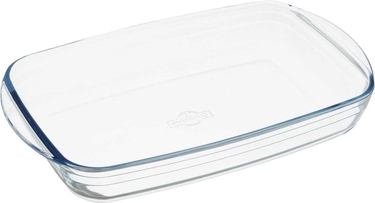 """Форма для запекания Pyrex """"O Cuisine"""" изготовлена из прозрачного жаропрочного стекла. Непористая поверхность исключает образование бактерий, великолепно моется. Изделие идеально подходит для приготовления  в духовом шкафу. Выдерживает перепад температур от -40°C до +300°C. Форма подходит для использования в микроволновой печи, приготовления блюд в духовке, хранения пищи в холодильнике. Можно мыть в посудомоечной машине. Размер формы (по верхнему краю): 35 х 22 см. Высота формы: 6 см."""
