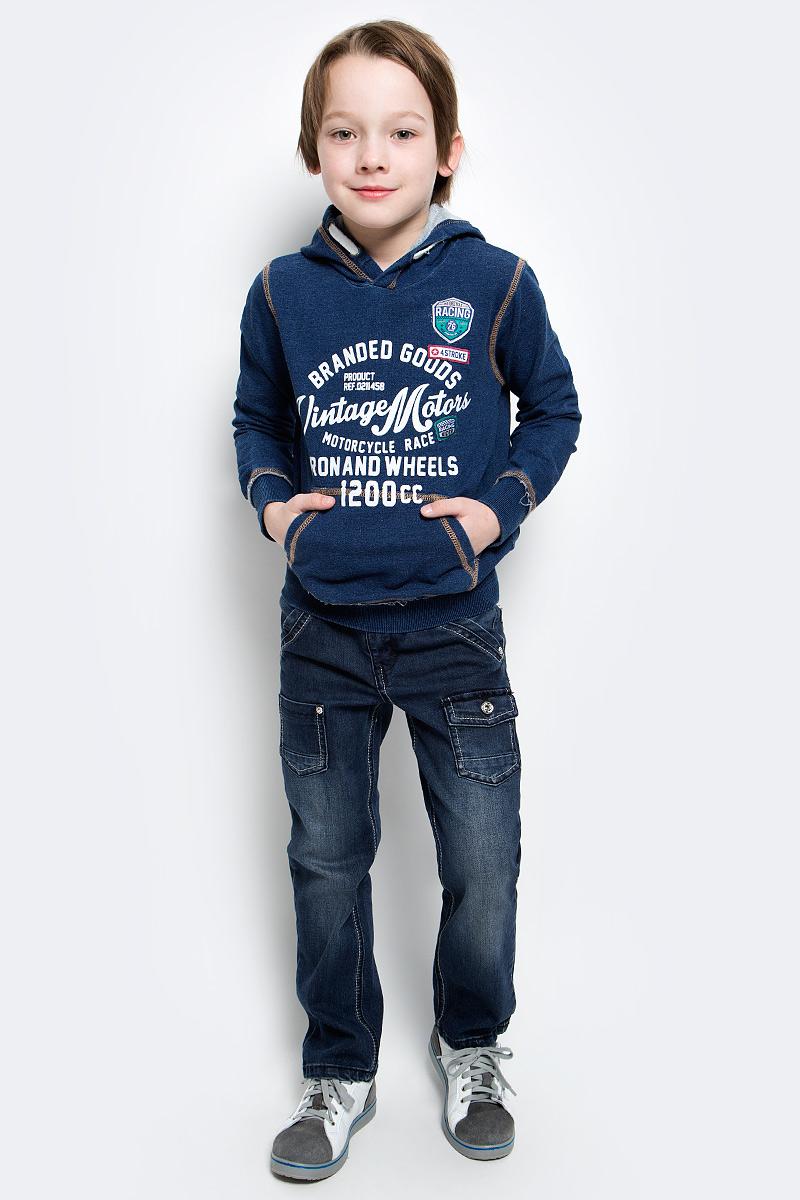 Фото Толстовка для мальчика PlayToday, цвет: синий. 171013. Размер 104