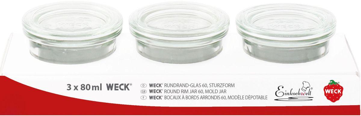 Банка для сыпучих продуктов Einkochwelt Weck, 80 мл. 3 шт344230Набор банок для сыпучих продуктов Einkochwelt Weck изготовлен из прочного стекла и дополнен также стеклянными крышками. Набор состоит из трех банок, которые предназначеныдля хранения сыпучих продуктов и консервации. Стеклянные крышки сделают процессприготовления домашних заготовок легким и приятным, а также обеспечат надежное хранениеготовых продуктов. Эта банка сделана из жаропрочного стекла (выдерживает температурудо 250°С). Оригинальная форма позволит им стать не только полезнымиизделиями, но и украшением интерьера вашей кухни. Объем банки: 80 мл.