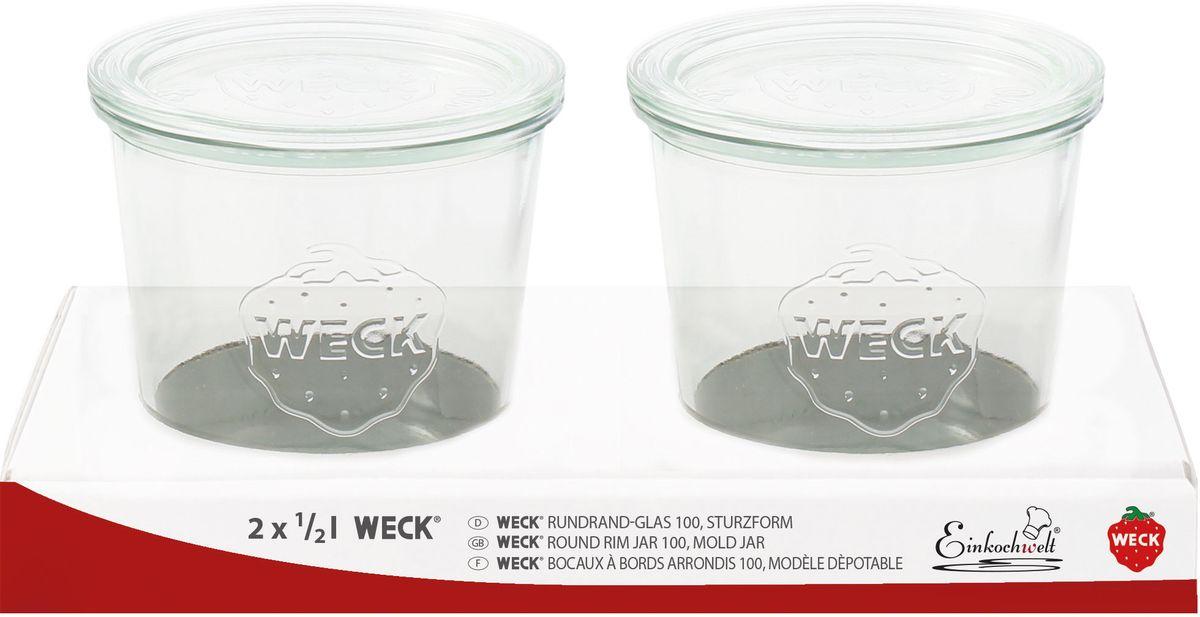 Банка для сыпучих продуктов Einkochwelt Weck, 500 мл, 2 шт344292Набор банок для сыпучих продуктов Einkochwelt Weck изготовлен из прочного стекла и дополнентакже стеклянными крышками. Набор состоит из двух банок, которые предназначены для хранения сыпучих продуктов и консервации. Стеклянные крышки сделают процесс приготовления домашних заготовок легким и приятным, а также обеспечат надежное хранение готовых продуктов. Эта банка сделана из жаропрочного стекла (выдерживает температуру до 250°С). Оригинальная форма позволит им стать не только полезными изделиями, но и украшением интерьера вашей кухни.