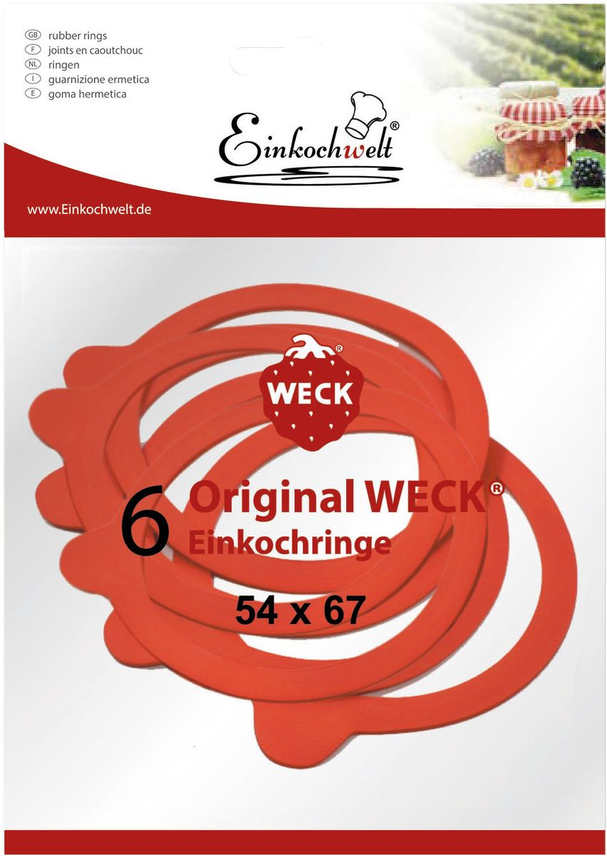 Резиновая прокладка Einkochwelt, 5,4 х 6,7 см. 6 шт346852Набор Einkochwelt состоит из шести резиновых прокладок, предназначенных для банок со стеклянными крышками соответствующего диаметра горлышка. Такие прокладки отлично закупорят различные домашние заготовки и обеспечат герметичность емкости, сохраняя тепло.Размеры прокладки: 5,4 х 6,7 см.