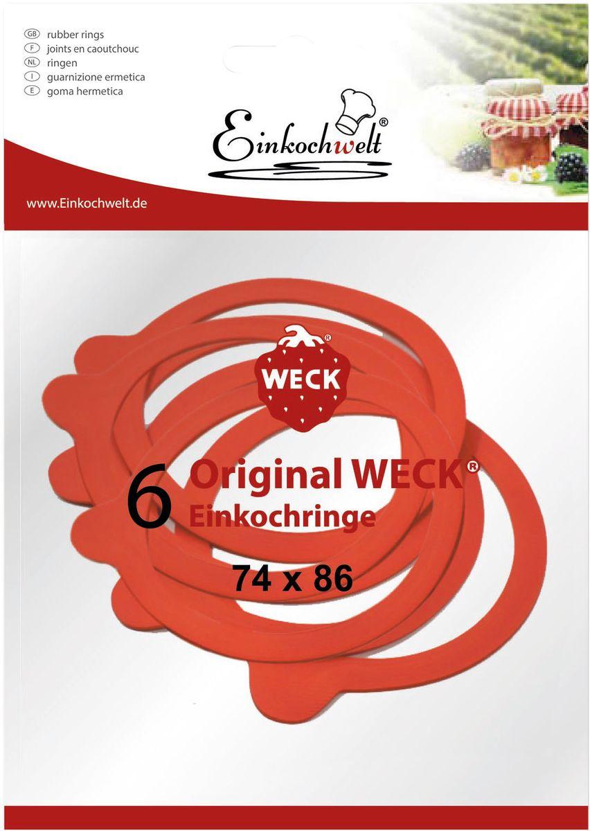 Резиновая прокладка Einkochwelt, 7,4 х 8,6 см. 6 шт346869Набор Einkochwelt состоит из шести резиновых прокладок, предназначенных для банок со стеклянными крышками соответствующего диаметра горлышка. Такие прокладки отлично закупорят различные домашние заготовки и обеспечат герметичность емкости, сохраняя тепло.Размеры прокладки: 7,4 х 8,6 см.