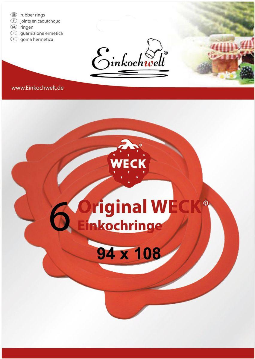 Резиновая прокладка Einkochwelt, 9,4 х 10,8 см. 6 шт346876Набор Einkochwelt состоит из шести резиновых прокладок, предназначенных для банок со стеклянными крышками соответствующего диаметра горлышка. Такие прокладки отлично закупорят различные домашние заготовки и обеспечат герметичность емкости, сохраняя тепло.Размеры прокладки: 9,4 х 10,8 см.