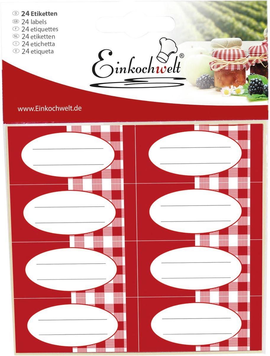 Набор этикеток Einkochwelt, 5,4 х 2,5 см. 24 шт346890Оригинальные этикетки на банки и бутылки Einkochwelt станут прекрасным украшением ваших домашних заготовок и других продуктов. Вы никогда не забудете состав и дату изготовления продукта.Размеры: 5,4 х 2,5 см.