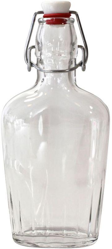 """Бутылка """"Einkochwelt"""", выполненная из стекла, позволит украсить любую кухню, внеся разнообразие в кухонный  интерьер. Она легка в использовании. Крышка плотно закрывается с помощью металлического  зажима-клипсы, дольше сохраняя свежесть продуктов. Крышка оснащена силиконовым  уплотнителем.  Благодаря этому внутри сохраняется герметичность, и напитки дольше  остаются свежими.Оригинальная бутылка будет отлично смотреться на вашей кухне. Объем: 250 мл."""