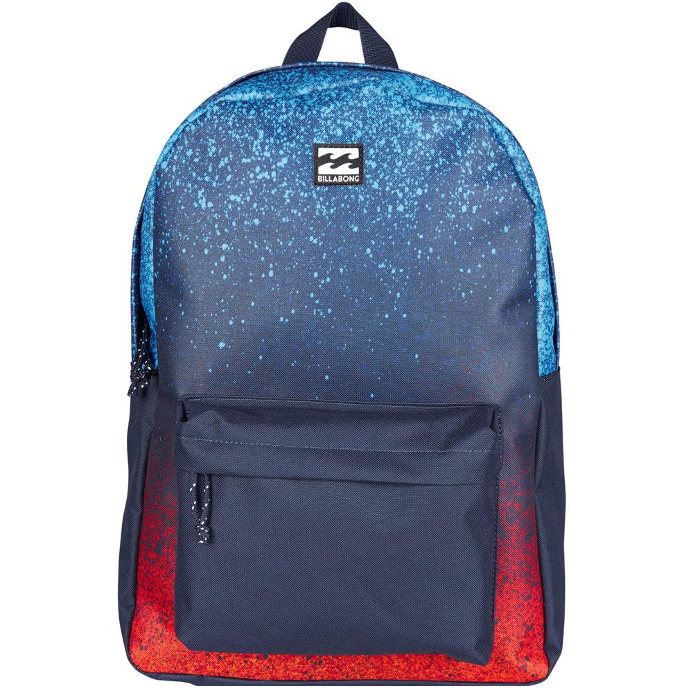 Рюкзак городской Billabong All Day Pack, цвет: синий, красный3607869368561Компактный городской рюкзак, объема которого вполне достаточно для повседневных потребностей. Рюкзак для работы, учебы или пляжного отдыха. Классический дизайн с одним отделением, в которое можно сложить все, что угодно. Основное отделение закрывается на молнию. Спереди имеется объемный карман на молнии. Мягкие регулируемые лямки.Стильные расцветки сделают этот рюкзак не только полезным аксессуаром, но и замечательным дополнением вашего образа в целом.