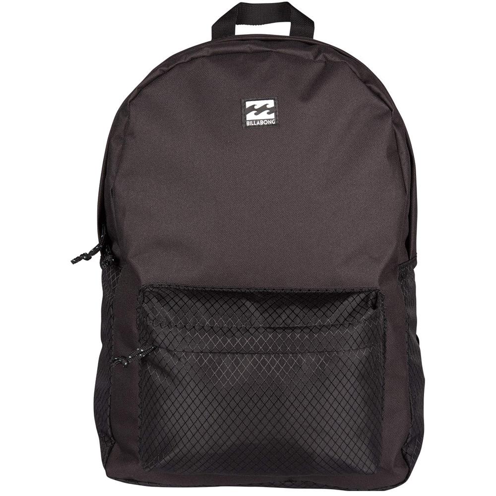 Рюкзак городской Billabong All Day Pack, цвет: черный3607869368585Компактный городской рюкзак, объема которого вполне достаточно для повседневных потребностей. Рюкзак для работы, учебы или пляжного отдыха. Классический дизайн с одним отделением, в которое можно сложить все, что угодно. Основное отделение закрывается на молнию. Спереди имеется объемный карман на молнии. Мягкие регулируемые лямки.Стильные расцветки сделают этот рюкзак не только полезным аксессуаром, но и замечательным дополнением вашего образа в целом.