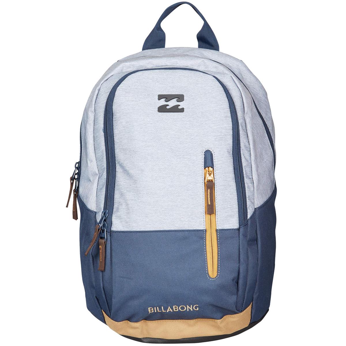 Рюкзак городской Billabong Shadow pack, цвет: серый, синий3607869368608Стильный и удобный рюкзак, компактный и достаточно вместительный, сделан, чтобы следовать за вами всюду, как тень. Рюкзак Shadow, в котором сочетается функциональность и эстетический внешний вид. Большое основное отделение с мягким карманом для ноутбука. Дополнительное отделение с вертикальным карманом. Усиленное дно. Эргономичные лямки с регулировкой.