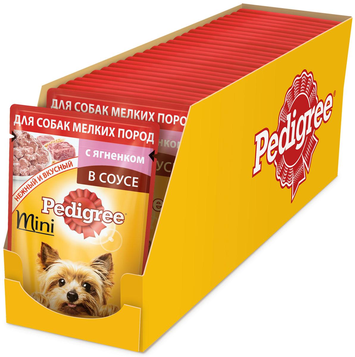 Консервы Pedigree, для взрослых собак мелких пород, с ягненком, 85 г х 24 шт42904