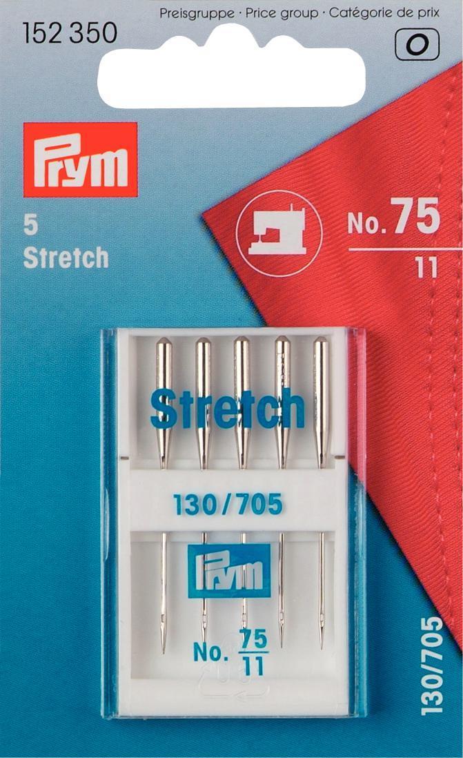 Набор игл для швейных машин Prym, стрейч, №75, 5 шт152350Очень тонкое острие игл для швейных машин Prym №75, позволяет аккуратно сшивать эластичную ткань стрейч.Иглы выполнены из стали.