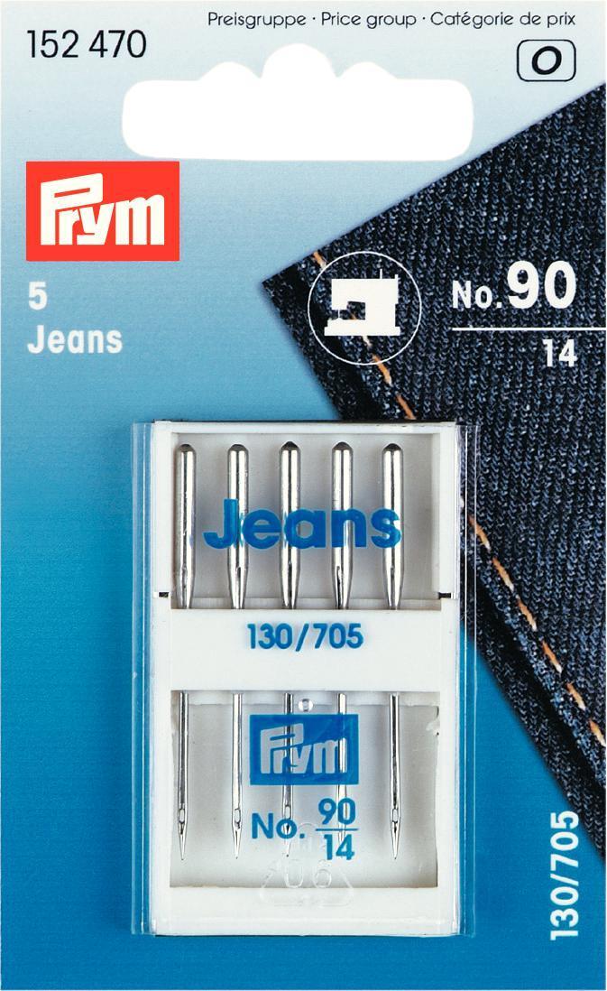 Набор игл для швейных машин Prym, для джинсы, №90, 5 шт152470