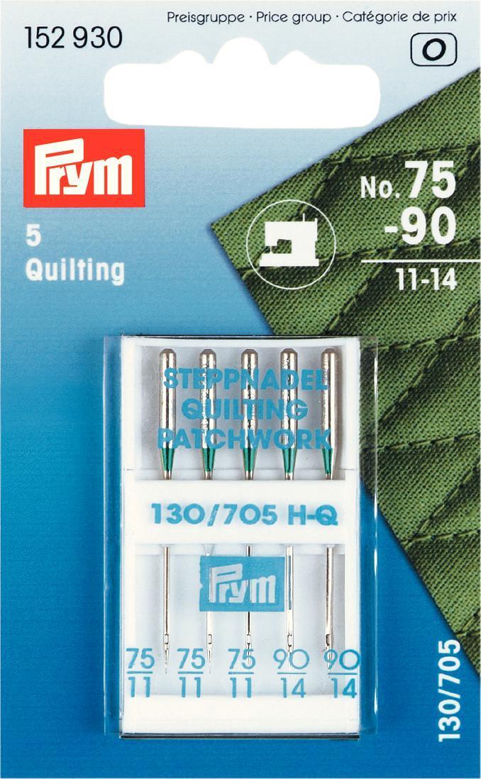 Набор игл для швейных машин Prym, для квилтинга, №75-90, 5 шт152930