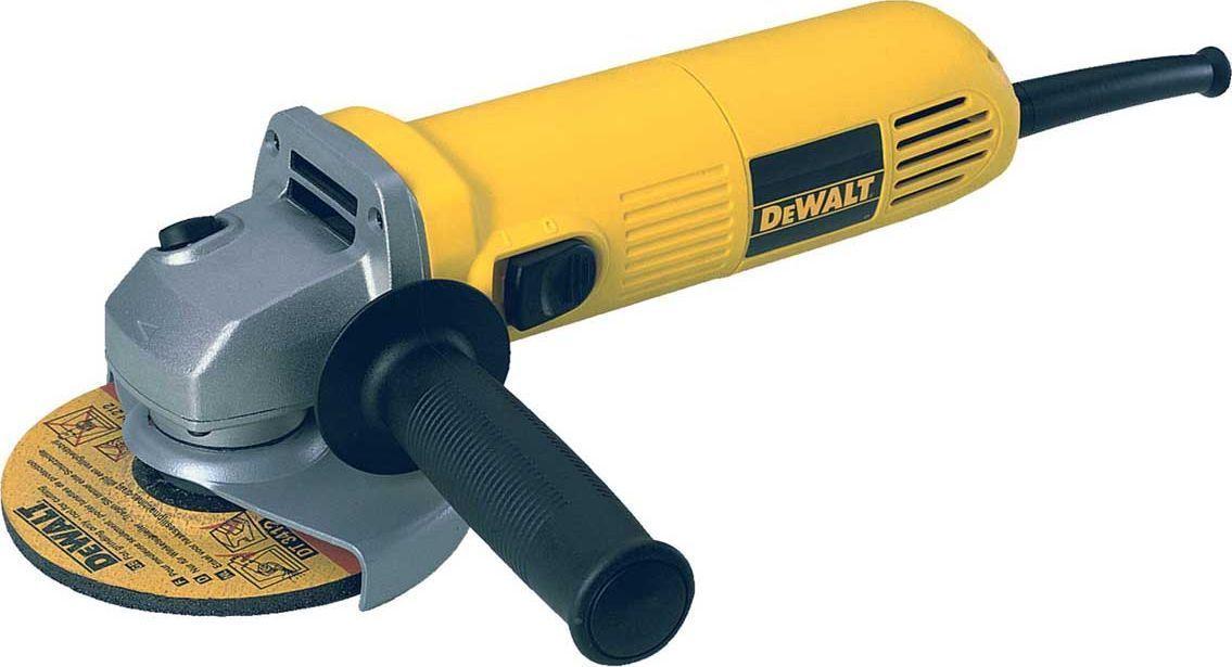 Машина углошлифовальная DeWalt. DWE4015DWE4015Углошлифовальная машина DeWalt предназначена для абразивной обработки: резки, шлифования и зачистки изделий из камня, металла и других материалов. Применяется в строительстве, металлообработке и обработке древесины.Особенности углошлифовальной машины DeWalt:- Самоотключающиеся щетки защищают якорь от повреждения в случае истечения срока их службы, обеспечивая, тем самым, продолжительный срок службы самого двигателя. - Запатентованный метод намотки двигателя позволяет уложить на 50% больше меди, что обеспечивает высокую мощность и надежную защиту от перегрузок.- Эргономичная конструкция корпуса позволяет работать инструментом одной рукой.- Использование только шариковых подшипников в конструкции увеличивает эффективность и долговечность инструмента.- Возможность установки боковой рукоятки в 2-х положениях. - Устойчивый к повреждениям, низкопрофильный, литой под давлением алюминиево-магниевый редуктор обеспечивает долговечность двигателя и инструмента в целом.- Обмотки статора с прямыми выводами без использования клемм обеспечивают высокую надежность инструмента.- Эпоксидное покрытие обмоток статора защищает двигатель от абразивной пыли.Вес: 1,9 кг. Высота: 80 мм.Длина: 280 мм.