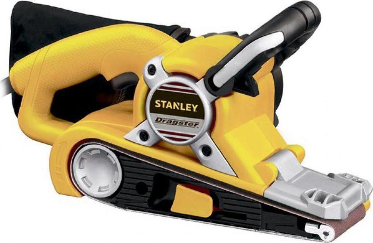 Машина шлифовальная Stanley ленточная. STBS720STBS720Шлифовальная машина Stanley используется для шлифования древесины, в частности, деревянных полов или столов. Благодаря наличию специального бампера исключены повреждения стен или прочих вертикальных поверхностей. Машина имеет простой бесключевой механизм, который позволяет легко заменить шлифовальную ленту на новую. Для поддержания чистоты на рабочем месте возможно подсоединение пылесборника.