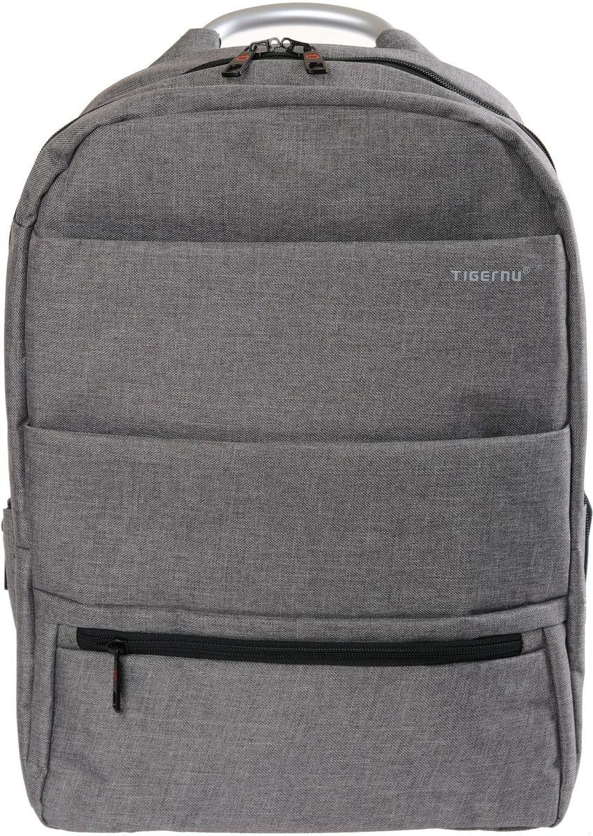 Tigernu T-B3138, Grey рюкзак для ноутбука 15T-B3138Рюкзак Tigernu T-B3138 отлично подойдет для работы, учебы или путешествий. Сделан из высокопрочного,водоотталкивающего материала. Довольно легкий. Отделение для ноутбука и планшета со вставкой из защитной пены, которое защитит ваши устройства от царапин и других повреждений. Гладкая ручка из качественного алюминиевого сплава. Основное отделение с двойной молнией (защита от кражи).