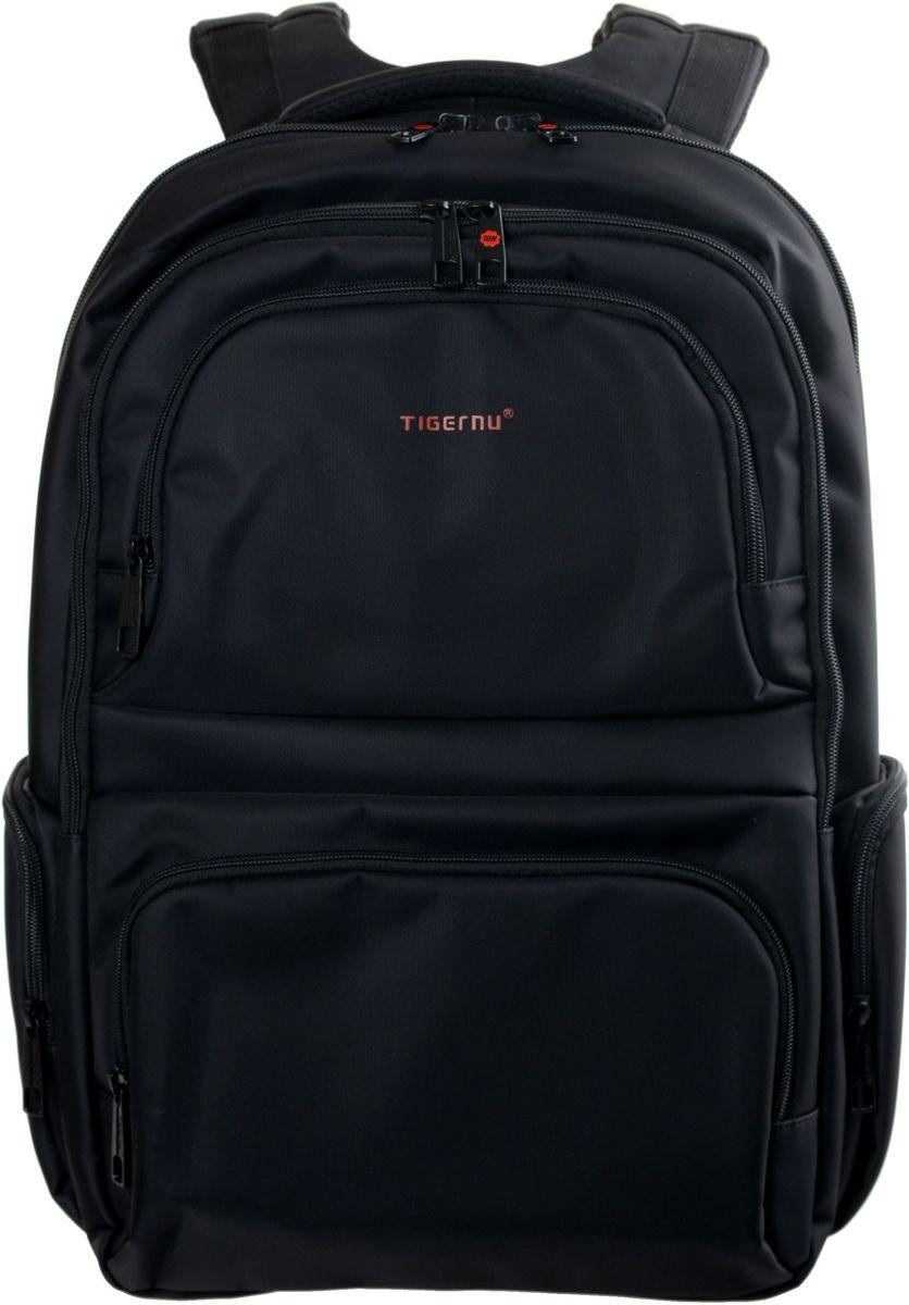 Tigernu T-B3140, Black рюкзак для ноутбука 17T-B3140Рюкзак Tigernu T-B3140 отлично подойдет для работы, учебы или путешествий. Сделан из высокопрочного, водоотталкивающего материала. Довольно легкий. Отделение для ноутбука и планшета со вставкой из защитной пены, которое защитит ваши устройства от царапин и других повреждений. На задней части рюкзака находится скрытый карман, где вы можете хранить свои документы и ценные вещи. S-образная конструкция спинки с воздухопроницаемой губкой обеспечивает идеальную мягкую посадку. Основное отделение с двойной молнией (защита от кражи).