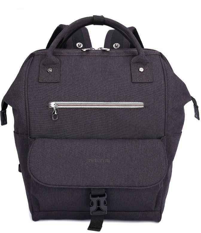 Tigernu T-B3184, Dark Grey рюкзак для ноутбука 14T-B3184Рюкзак Tigernu T-B3184 отлично подойдет для работы, учебы или путешествий. Сделан из высокопрочного, водоотталкивающего материала. Довольно легкий. Основное отделение с двойной молнией (защита от кражи). На задней части рюкзака находится скрытый карман, где можно хранить свои документы и ценные вещи. Задний ремень с защелкой для регулирования длины в 3 разных положениях.