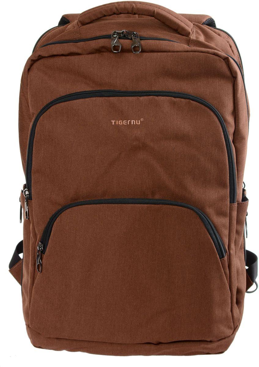 Tigernu T-B3189, Brown рюкзак для ноутбука 17T-B3189Рюкзак Tigernu T-B3189 отлично подойдет для работы, учебы или путешевствий. Сделан из высокопрочного,водоотталкивающего материала. Довольно легкий. Отделение для ноутбука и планшета со вставкой из защитной пены, которое защитит ваши устройства от царапин и других повреждений. S-образная конструкция спинки с воздухопроницаемой губкой обеспечивает идеальную мягкую посадку. Основное отделение с двойной молнией (защита от кражи).