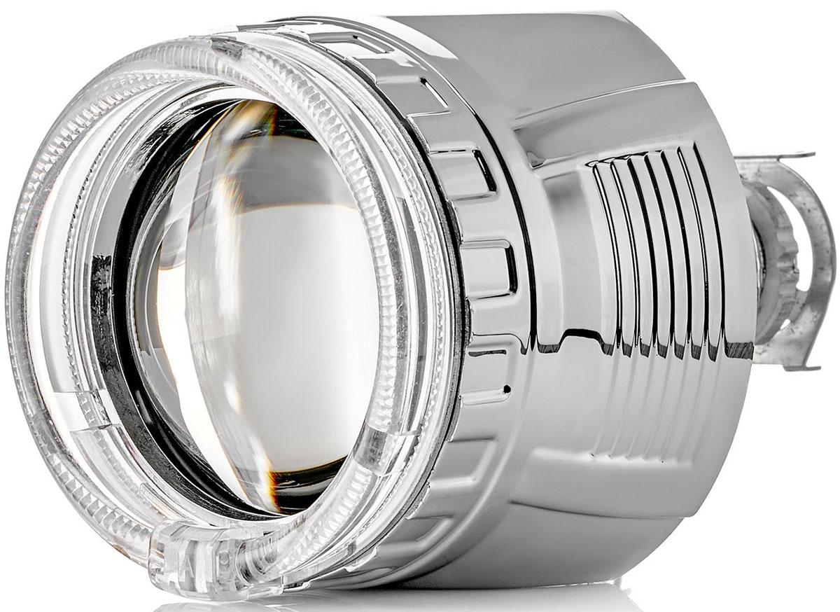 Купить Биксеноновая линза Clearlight Ангельский глаз , 2, 5 дюйма, в фару с Н4/Н7, под лампу H1, цвет серебро, 1 шт
