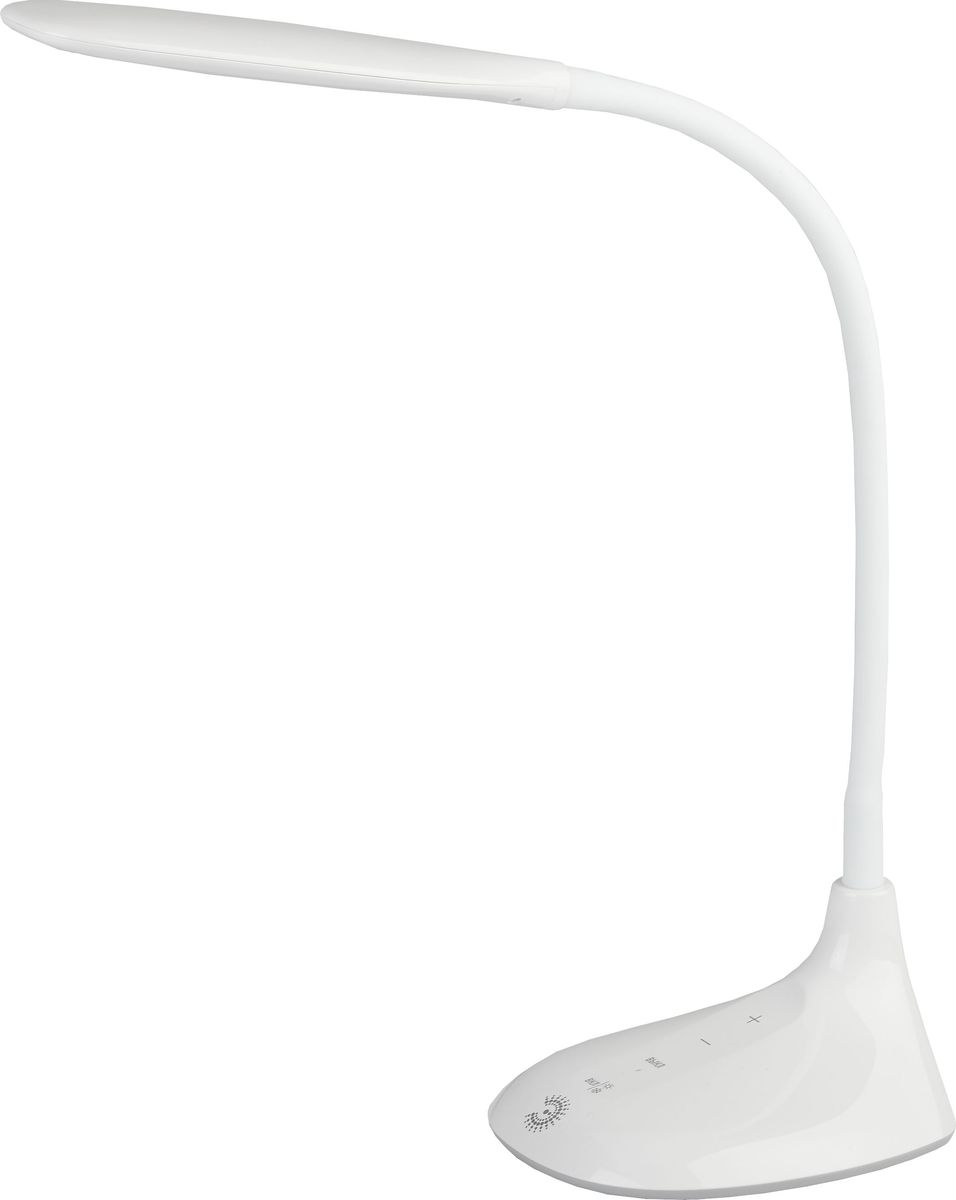 Настольный светильник ЭРА, цвет: белый. NLED-452-9W-WNLED-452-9W-WНастольный светильник ЭРА - светильник со светодиодами (LED) в качестве источников света, которые экономят до 90% электроэнергии и нетребуют замены на протяжении всего срока службы светильника.Сенсорный переключатель на основании.Выбор цветовой температуры - 3 цвета: 3000К, 4500К, 6000К.Пятиступенчатый диммер для регулировки яркости.Гибкая стойка. Класс энергоэффективности: A. Степень защиты от воздействия окружающей среды: IP20. Диапазон рабочих температур: + 5..+40°C. Класс защиты от поражения электрическим током: класс II. Количество светодиодов: 48 шт.