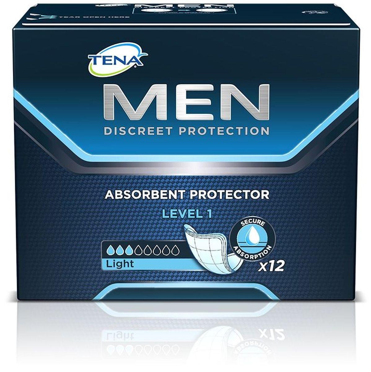 Tena Прокладки урологические для мужчин Men 1 12 шт01.00.15.750661Средства защиты TENA Men разработаны с учетом анатомических особенностей мужчины инапоминают по форме щит в виде чаши, которая плотно крепится к белью. Поверхностьсредств защиты TENA Men быстро впитывает влагу и дарит чувство сухости. Специальныемикрогранулы быстро впитывают влагу и запахи и запирают их внутри. TENA Men надежнокрепятся к нижнему белью с помощью клейкой полоски. Каждое средство защиты TENA Menиндивидуально упаковано, поэтому при необходимости его можно легко взять с собой.Длина: 23 см.
