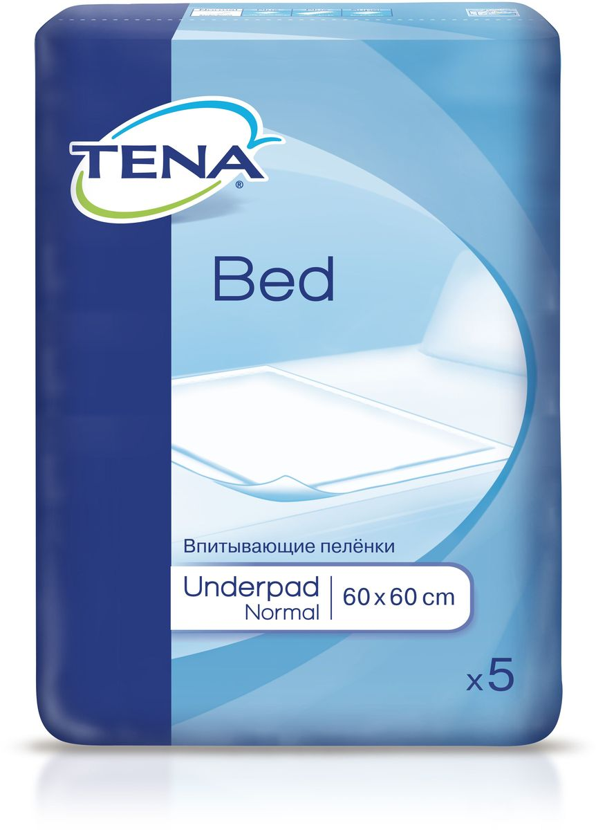 Tena Пеленки впитывающие Bed Normal 60 x 60 см 5 шт сени софт пеленки впитывающие 60 60 см n30