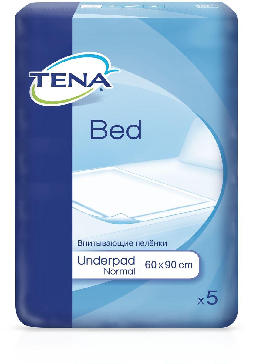 Tena Пеленки впитывающие Bed Normal 60 x 90 см 5 шт пеленки terezamed пеленки normal 10 шт